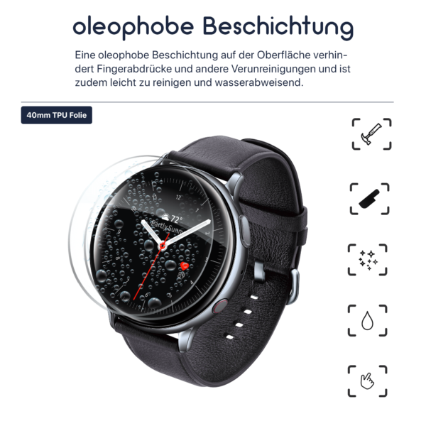 Samsung Galaxy Watch Active 2 40MM Schutzfolie